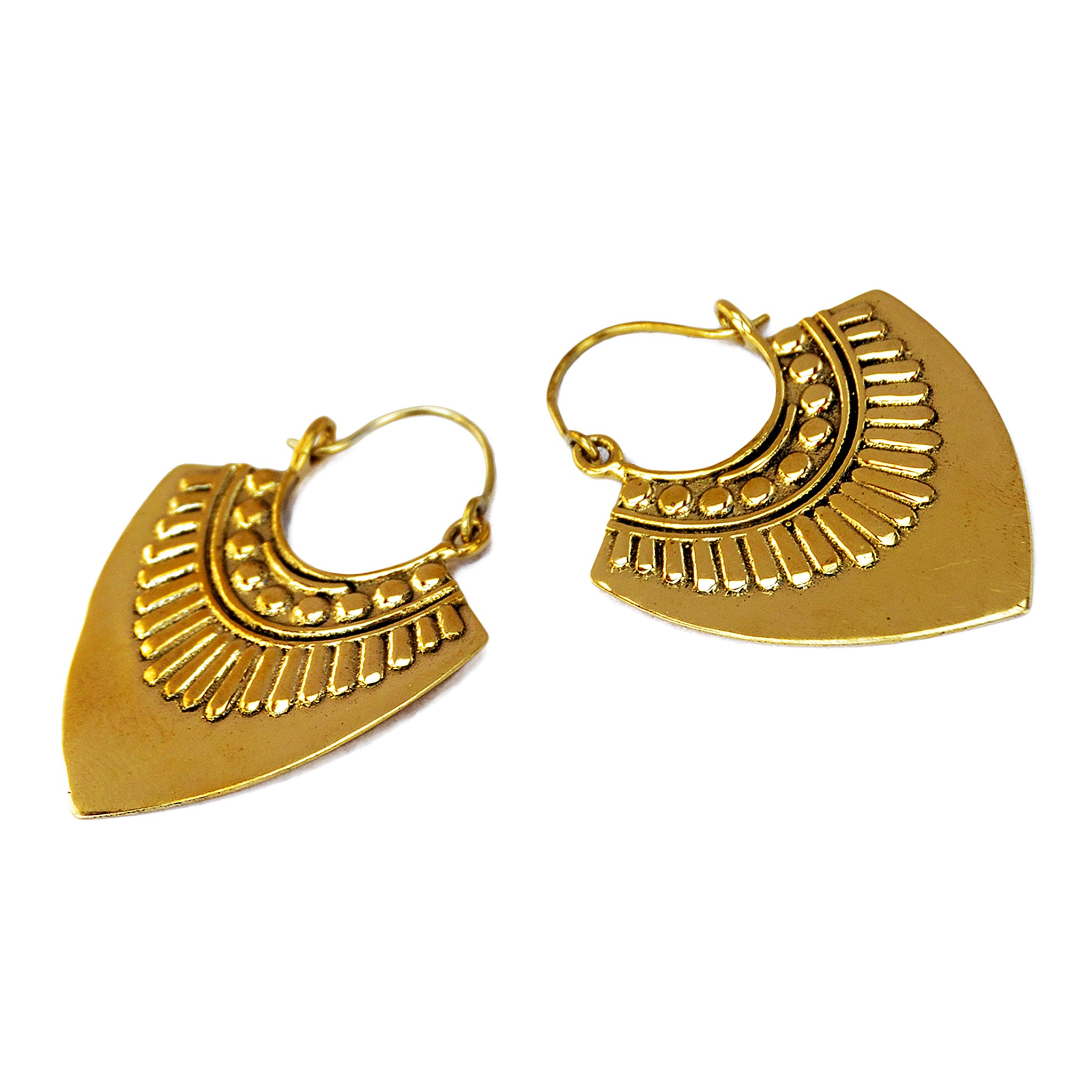 Gold mexican earrings