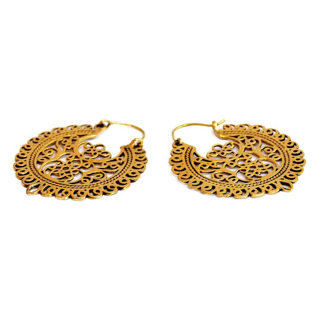 Ethnic filigree hoops