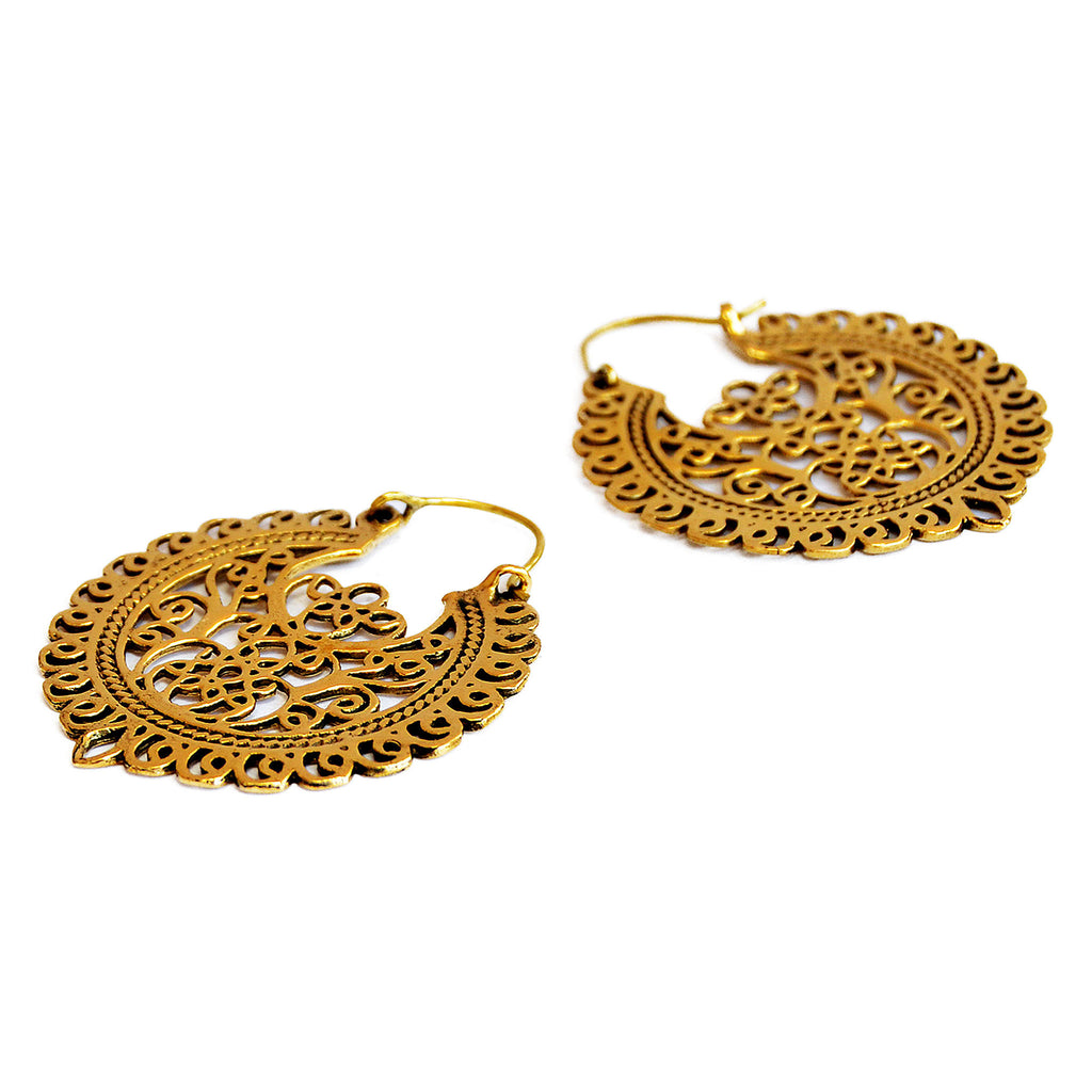 Tribal filigree earrings