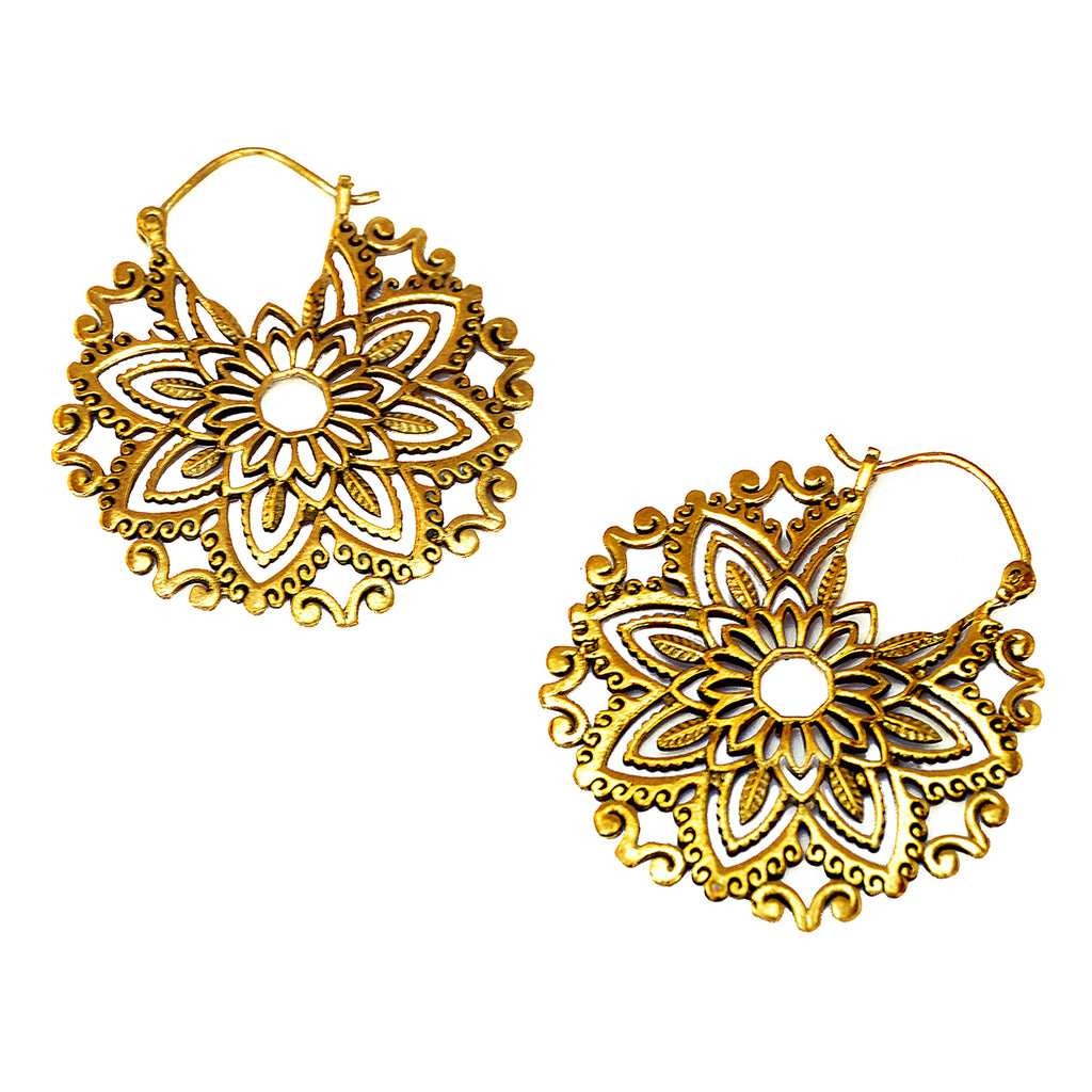 Floral mandala earrings