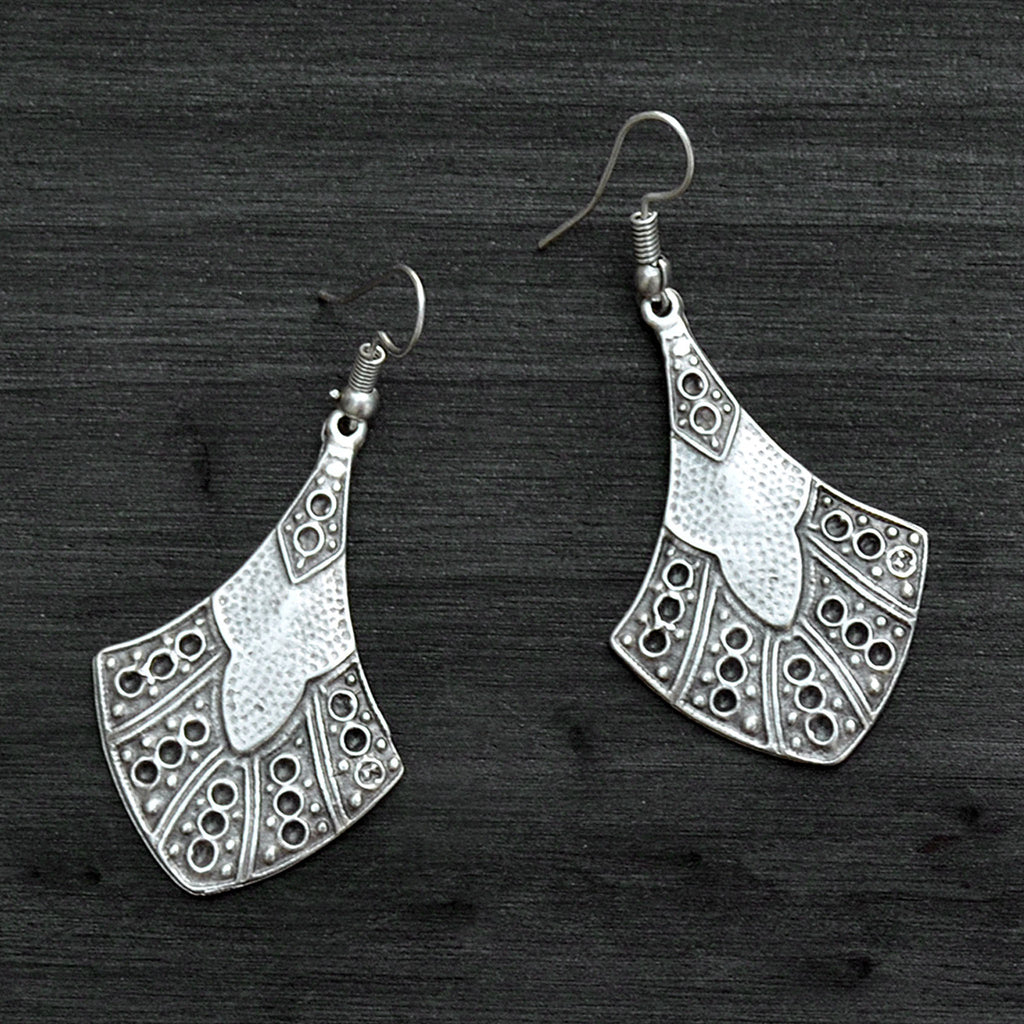 Silver turkmen earrings