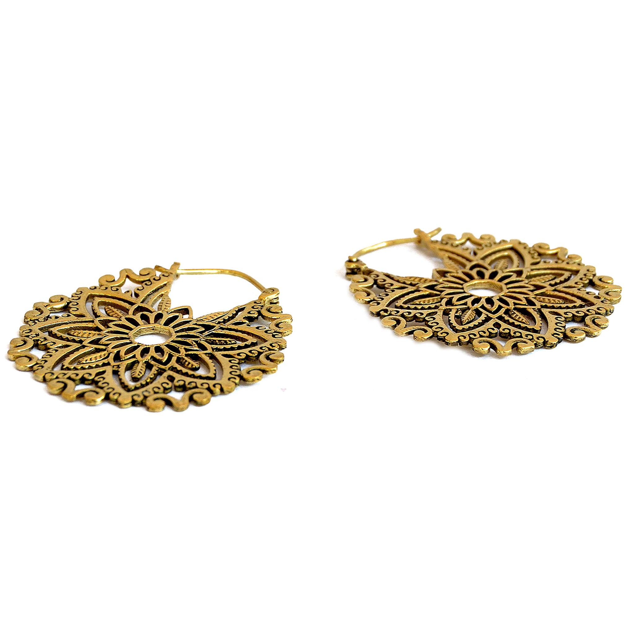 Indian hoop earrings brass