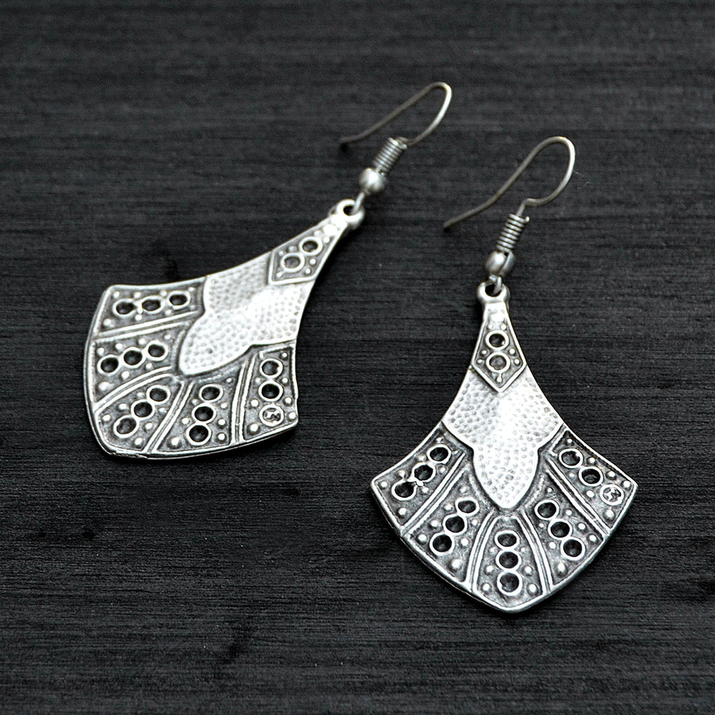 Silver ottoman earrings