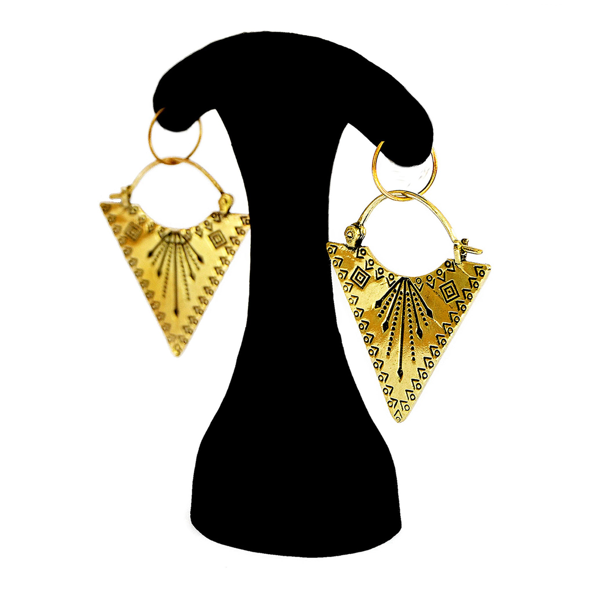 Brass gypsy earrings