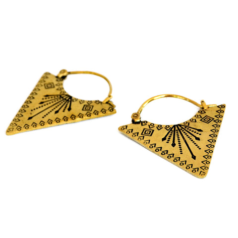 Ethnic Triangle Earrings