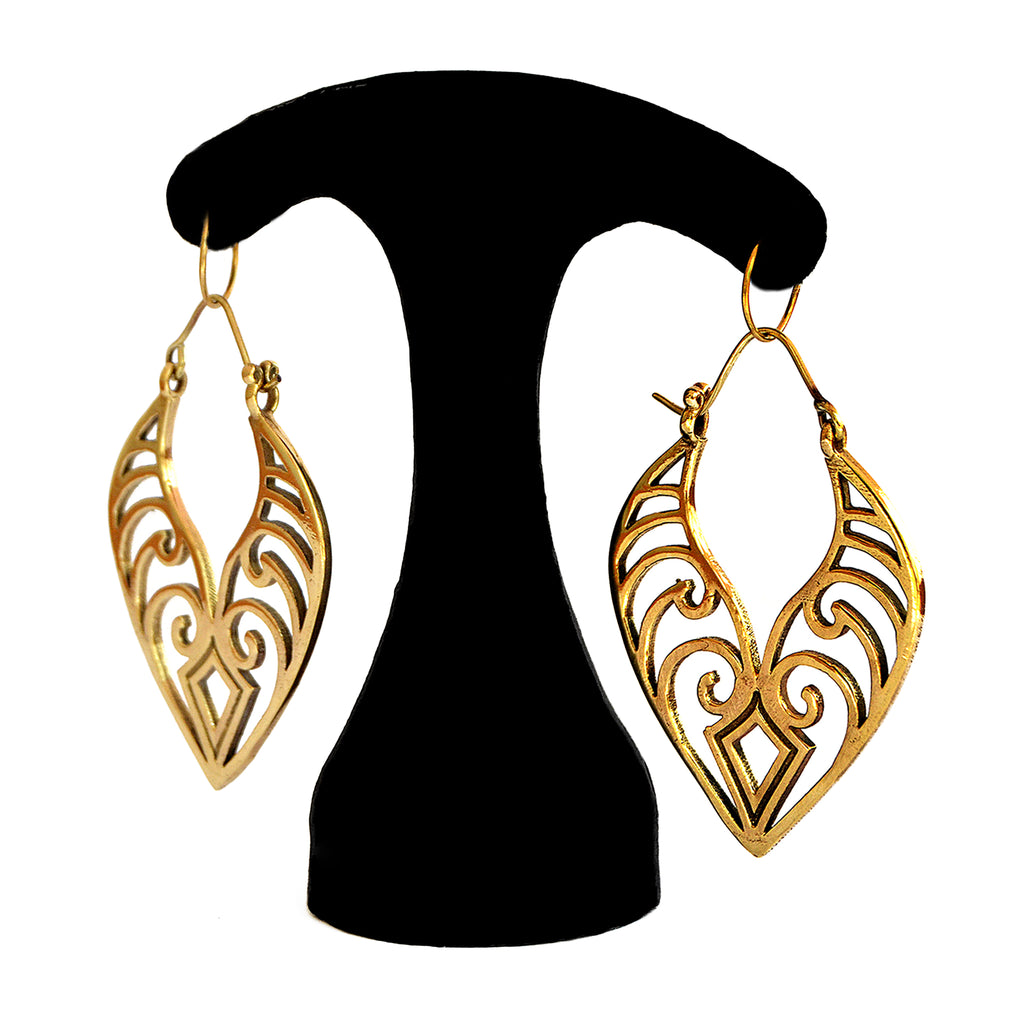 Large bohemian earrings