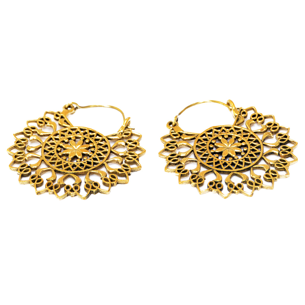 Indian floral earrings