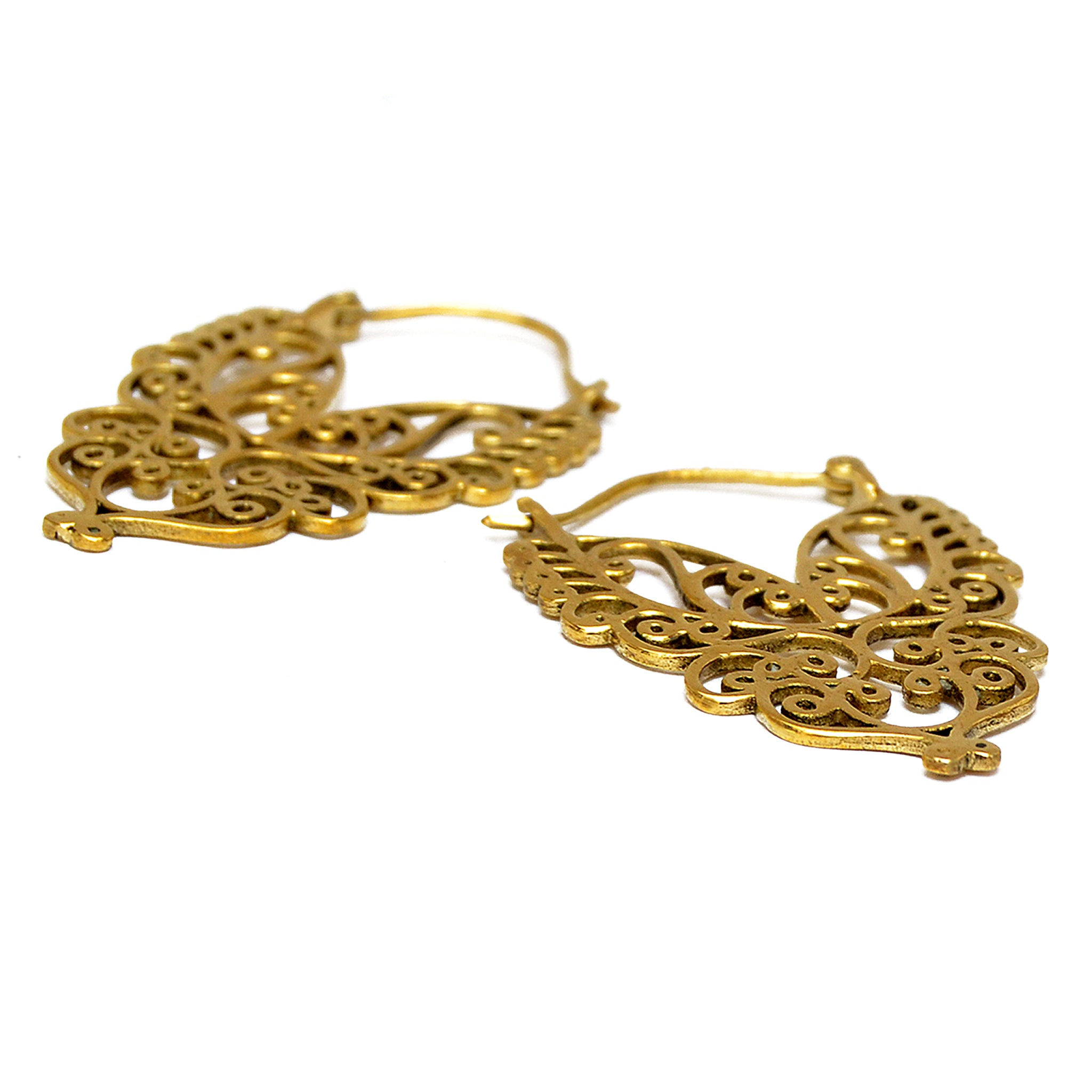 Tribal gold earrings