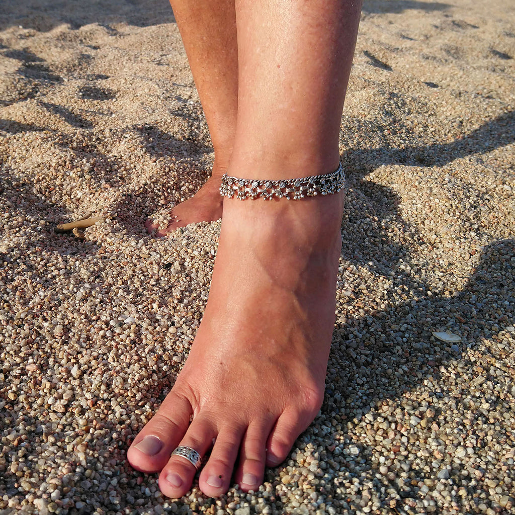 Indian silver anklet
