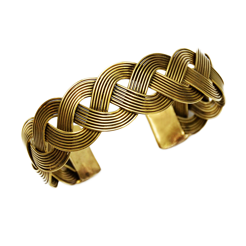Braided brass bracelet