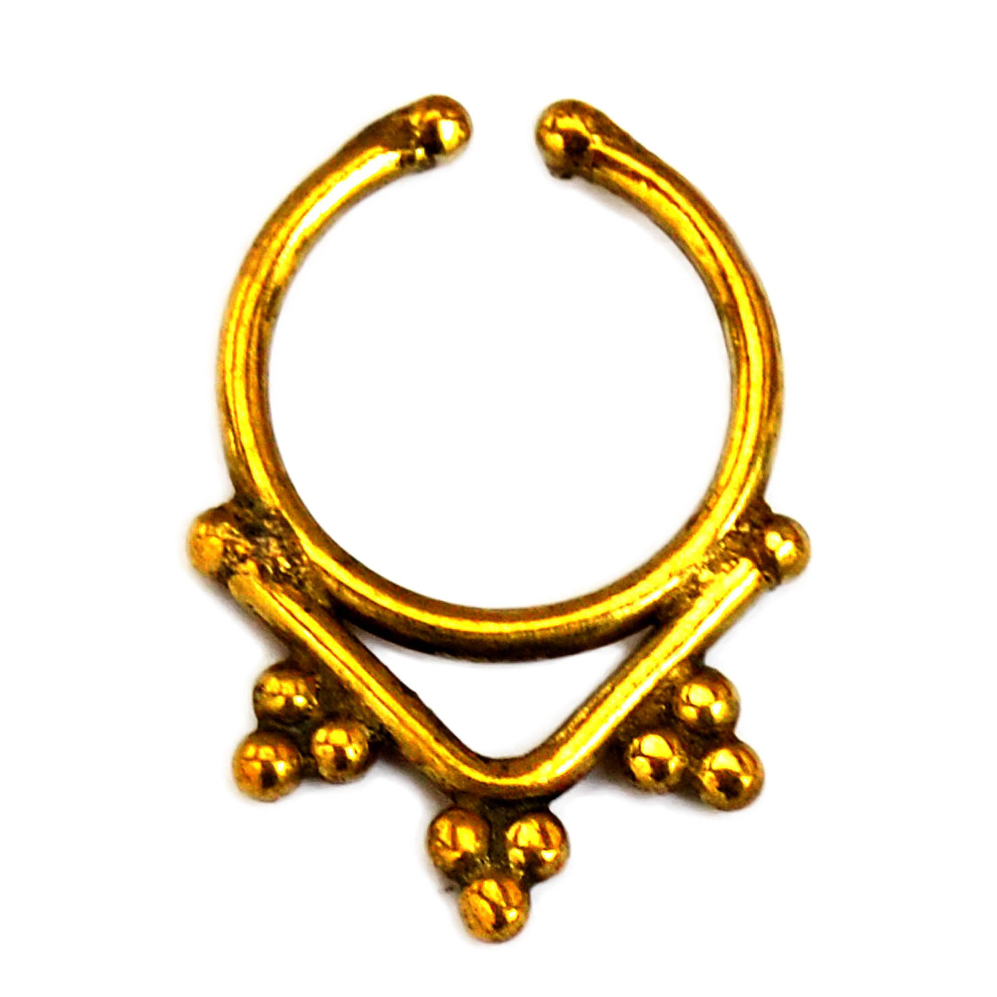 Gold indian faux septum ring