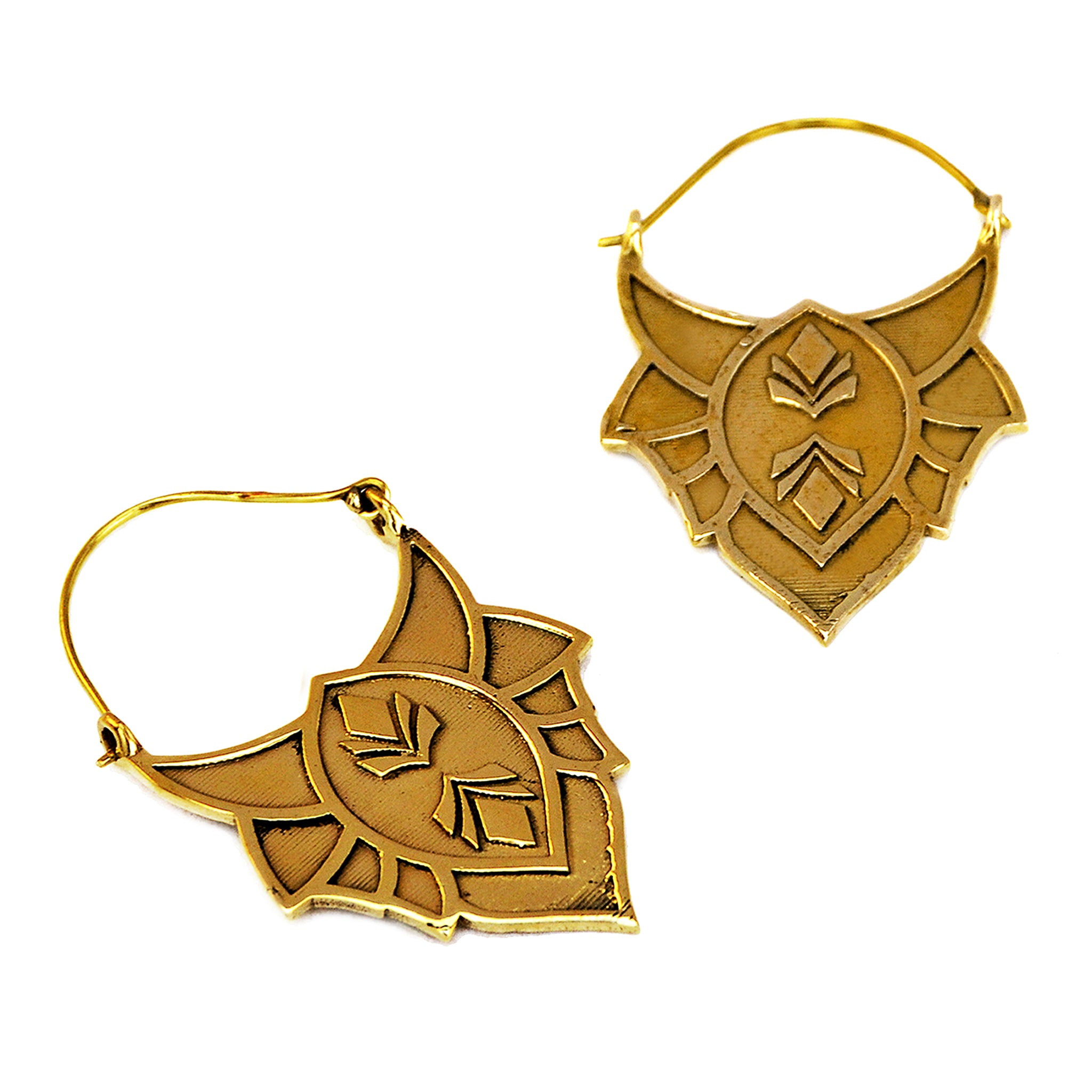 Tribal rajasthani brass earrings