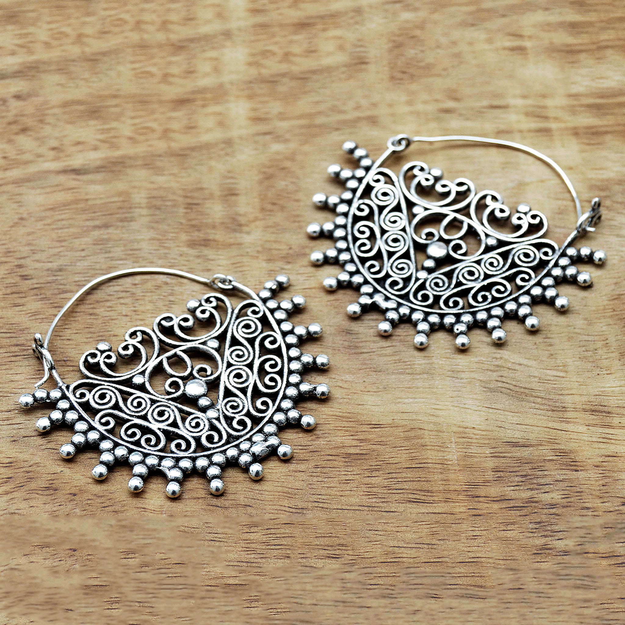 Silver Rajasthani Earrings