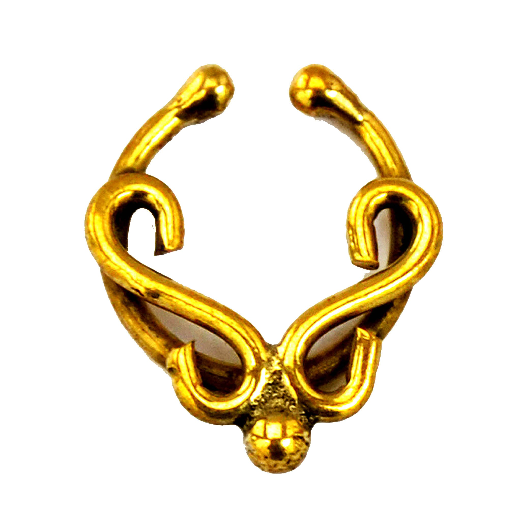 Ethnic fake septum ring