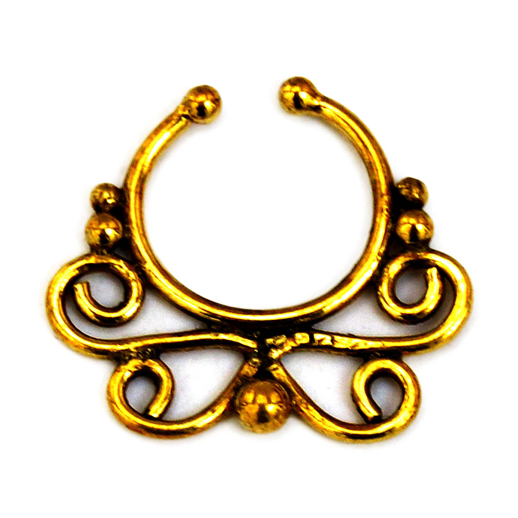 Indian faux septum ring