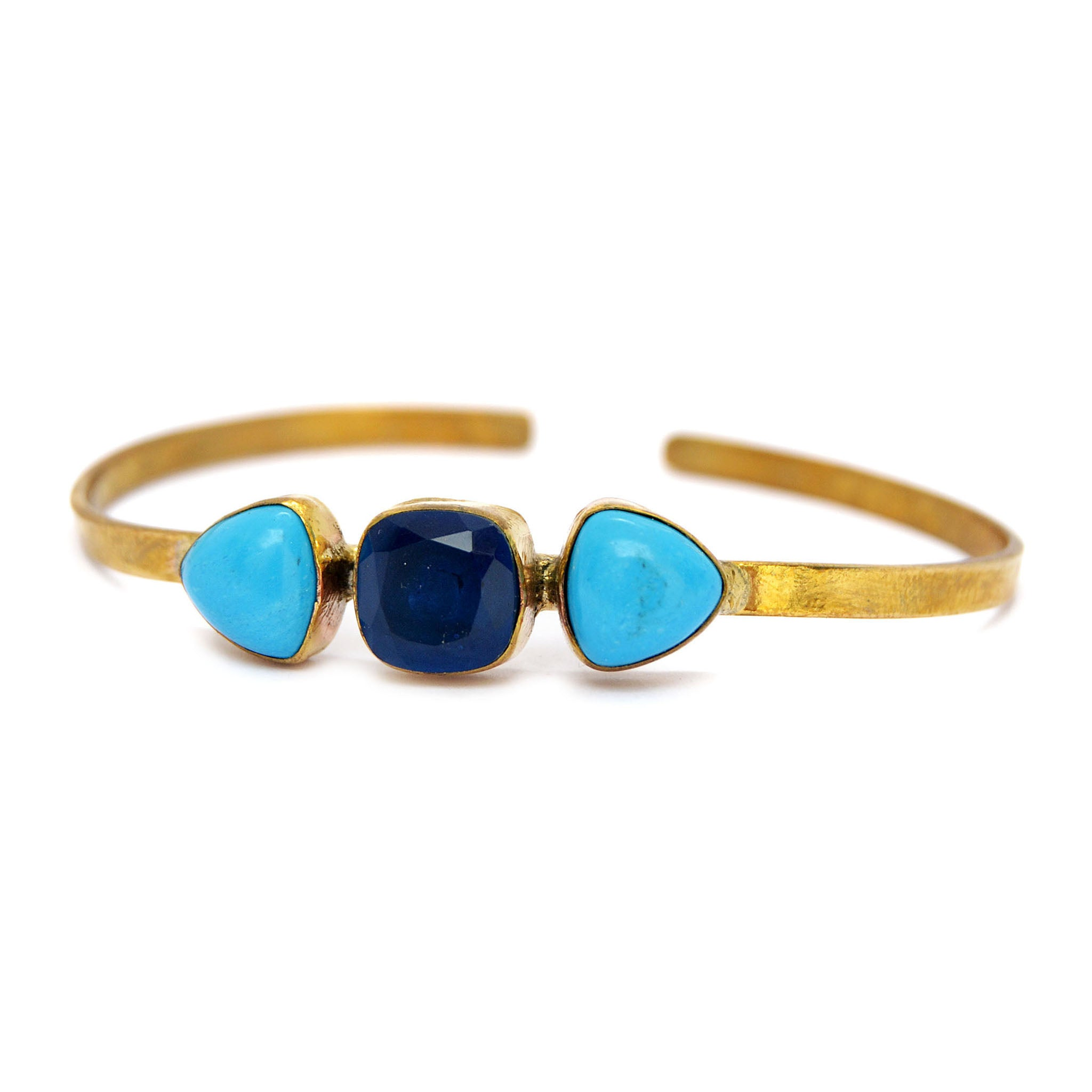 Gold and blue bangle