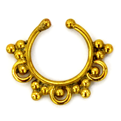 Gold indian fake septum ring