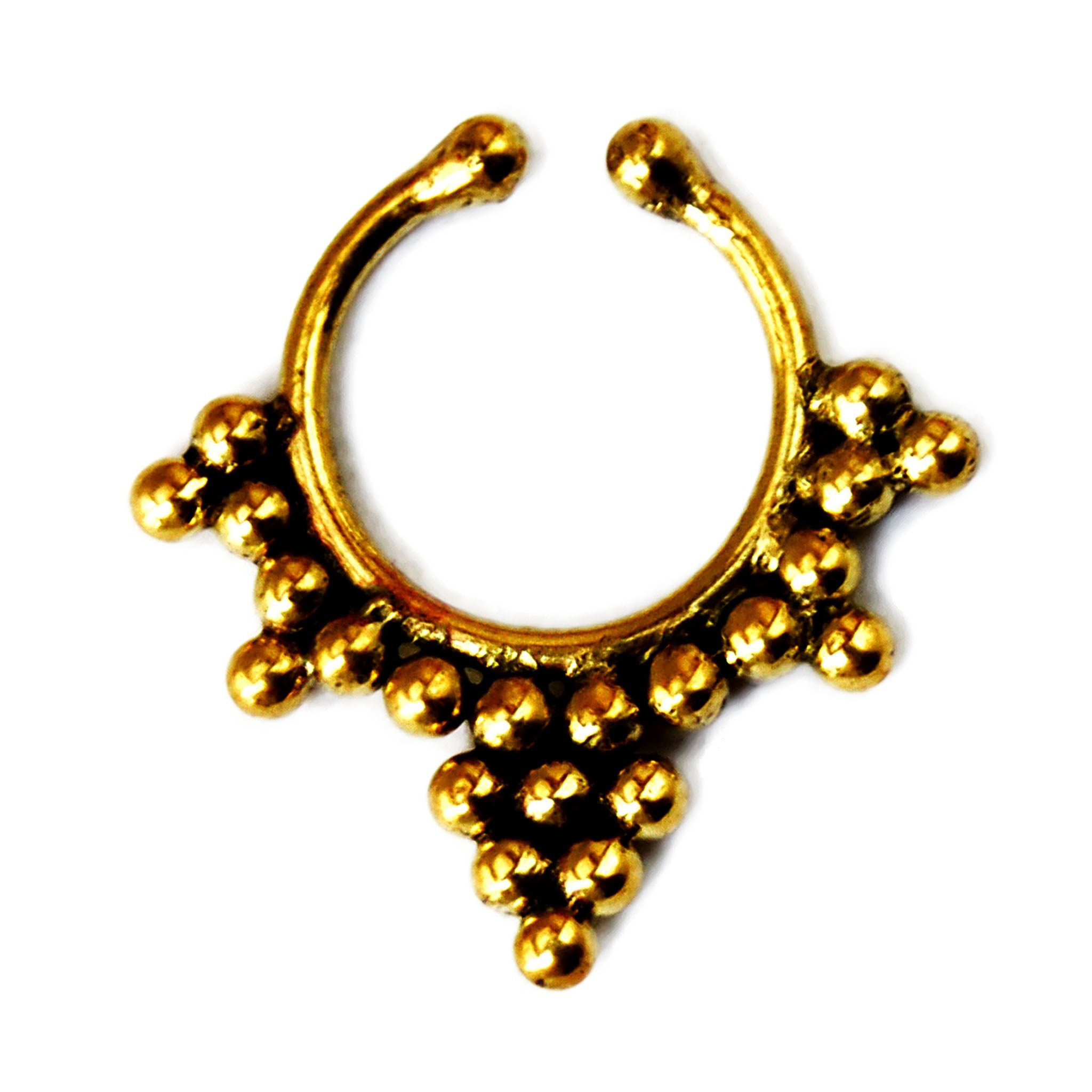 Indian brass fake septum ring