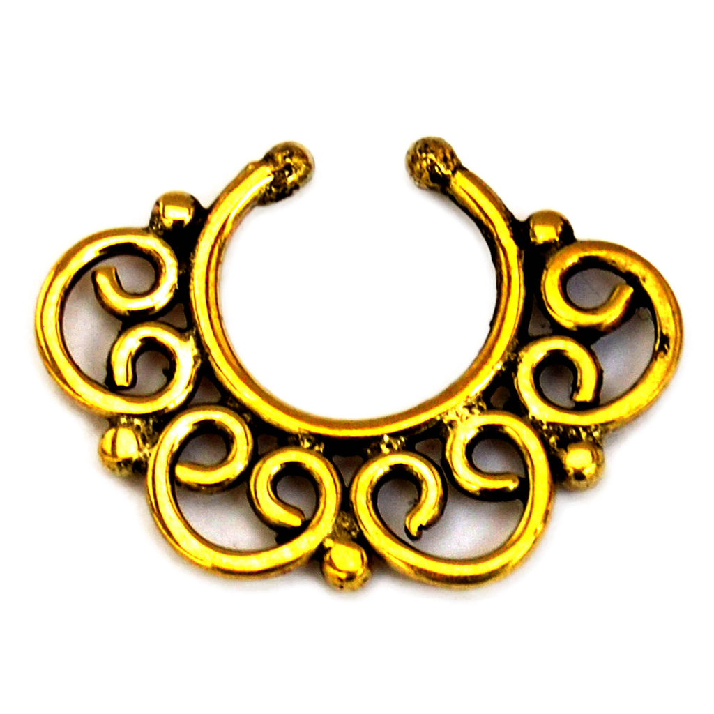 Indian style septum ring
