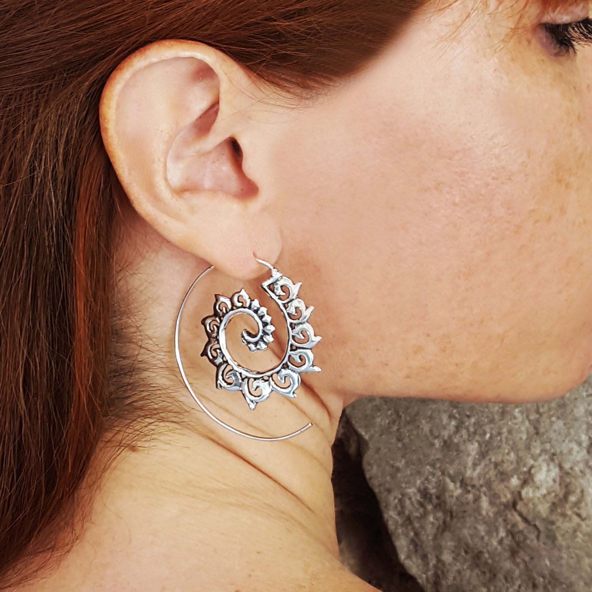 Spiral gysy earrings