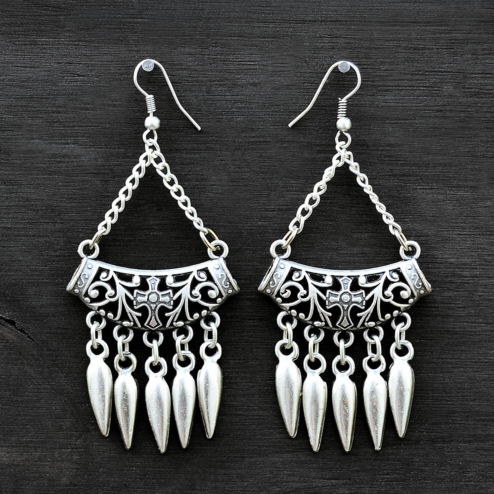 Tribal goth earrings