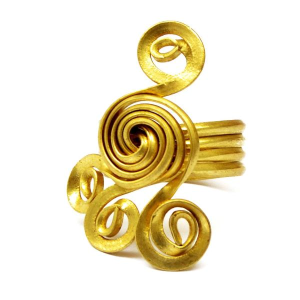 Gold foot ring
