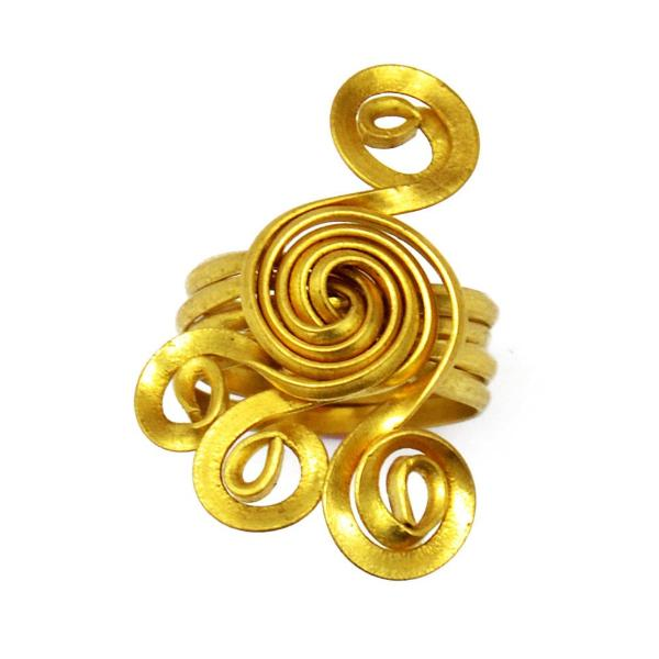 Brass spiral toe ring
