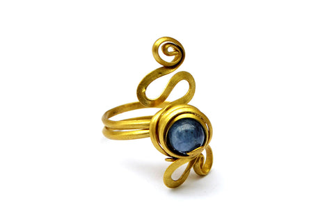 Toe Ring with Blue Stone