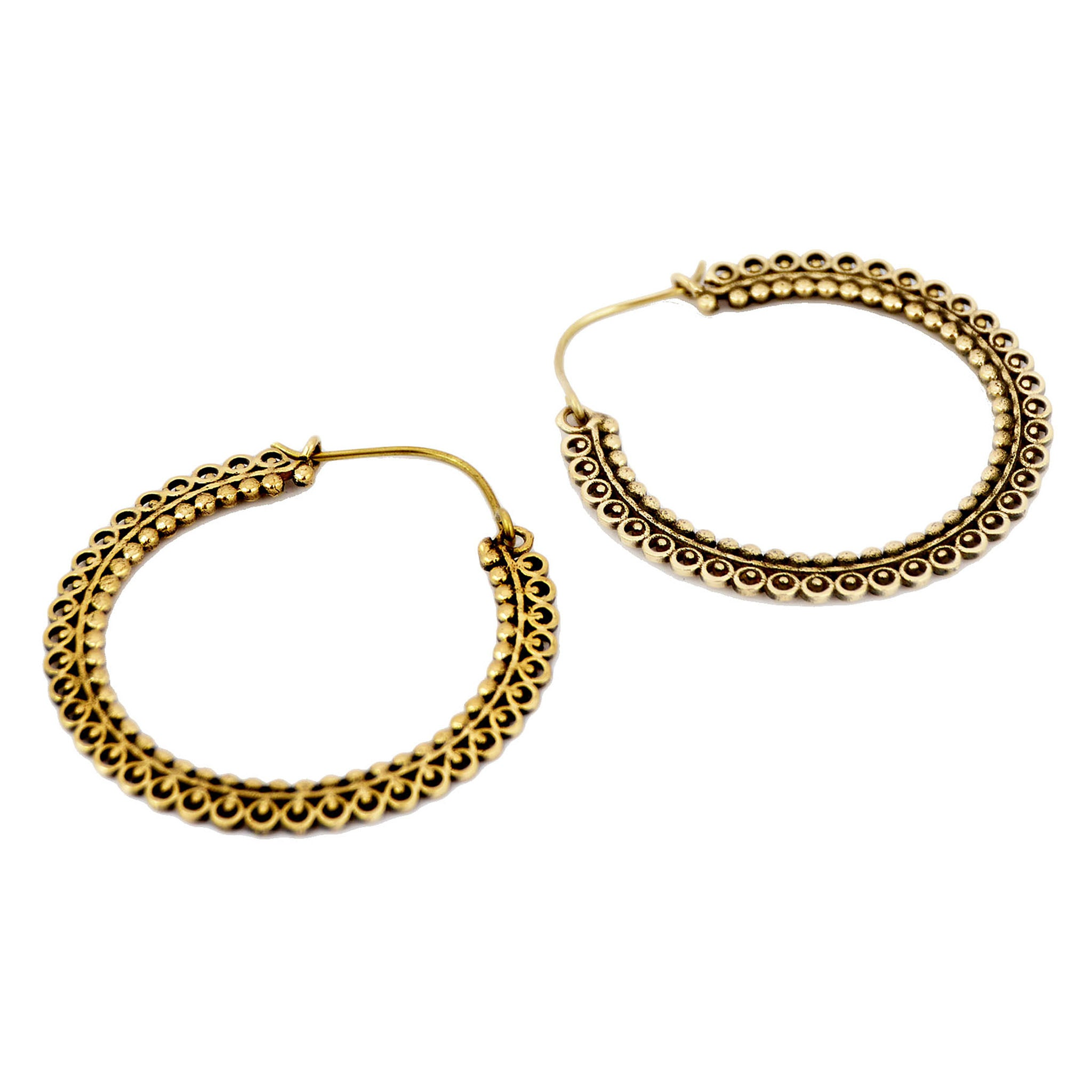 Gold banjara earrings