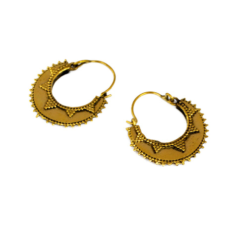 Small brass indian hoop earrings