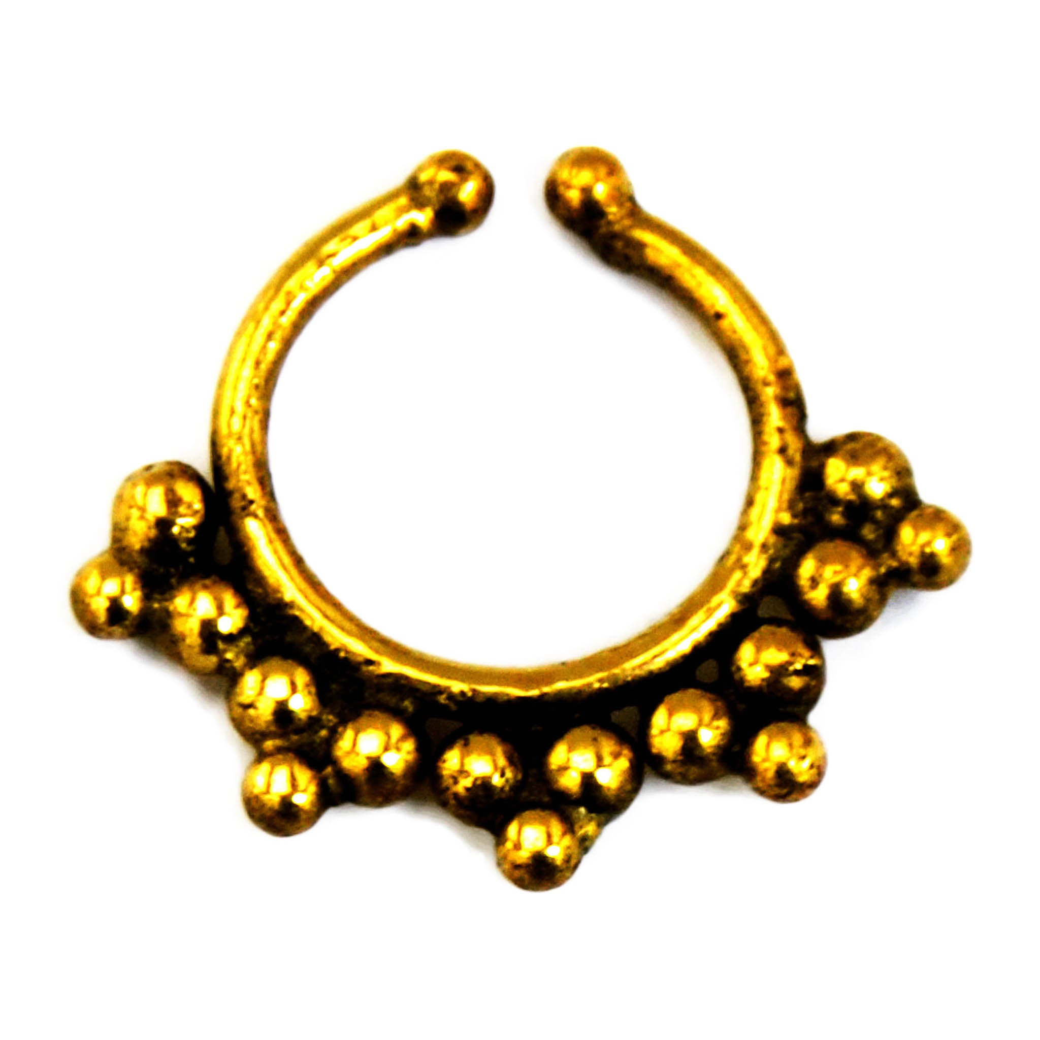 Gold indian faux nose ring