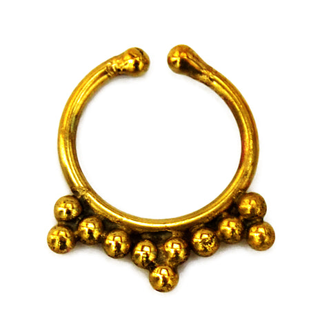 Gold indian faux nose piercing