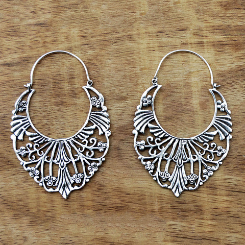 Silver vintage indian gypsy earrings
