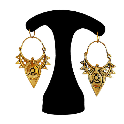 Indian tribal gold earrings