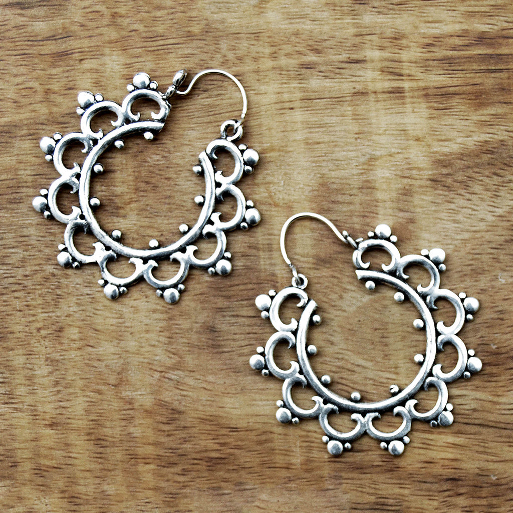 Gypsy mandala earrings