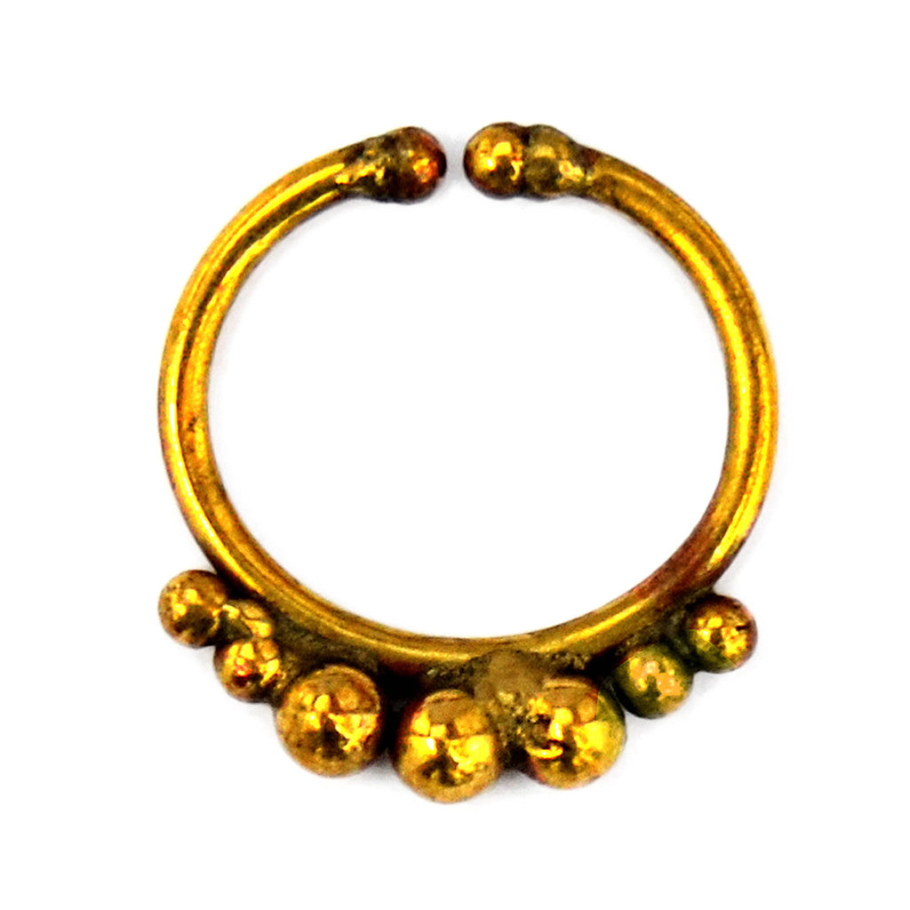 Brass indian faux septum ring
