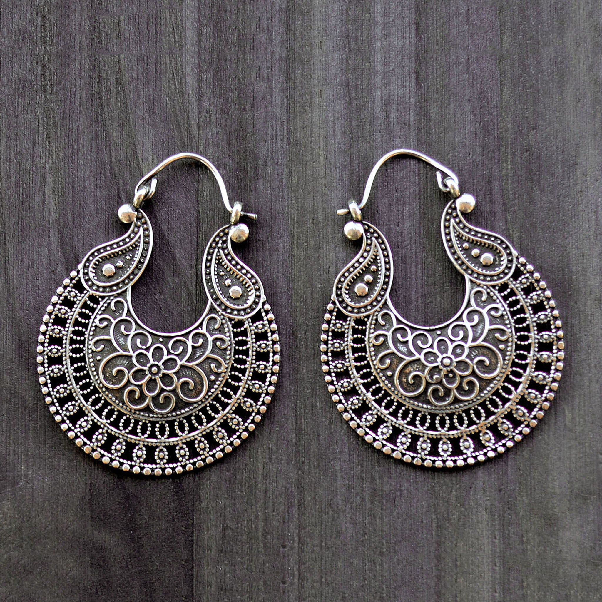 Gypsy ornate earrings