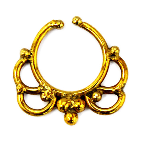 Tribal gold septum