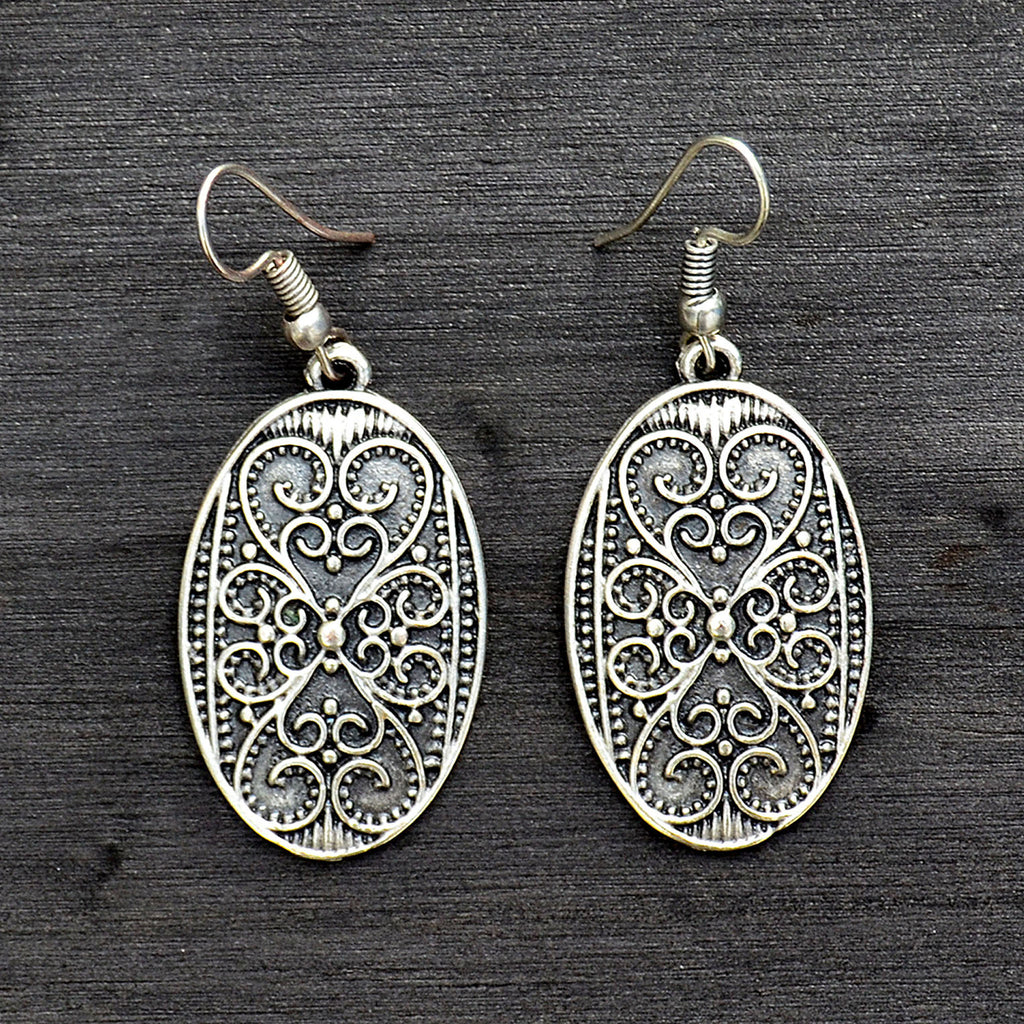Oval turkish earrings