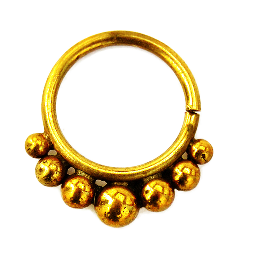 Brass septum ring