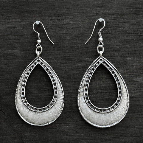 Silver drop earrings
