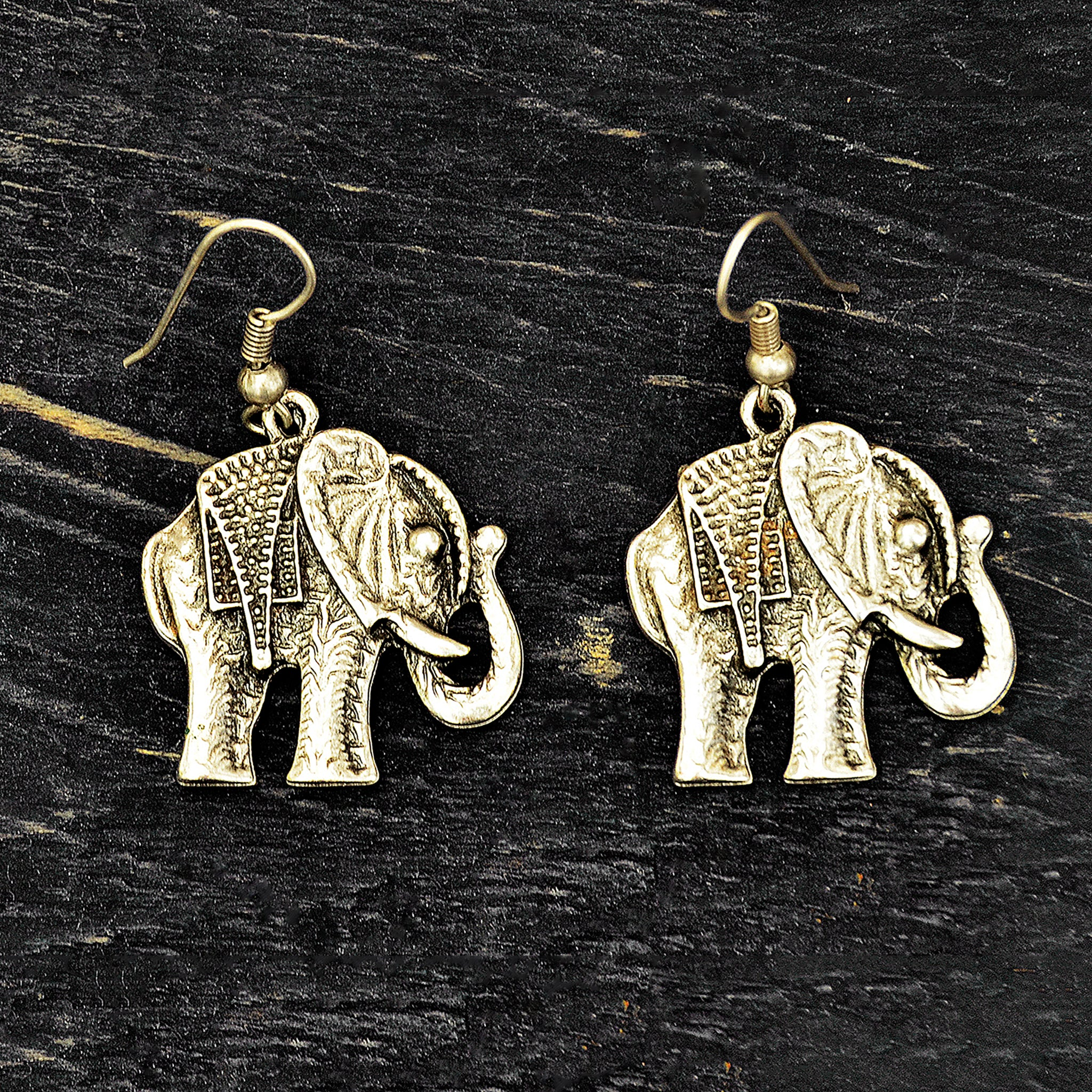 Small silver elephant earrings