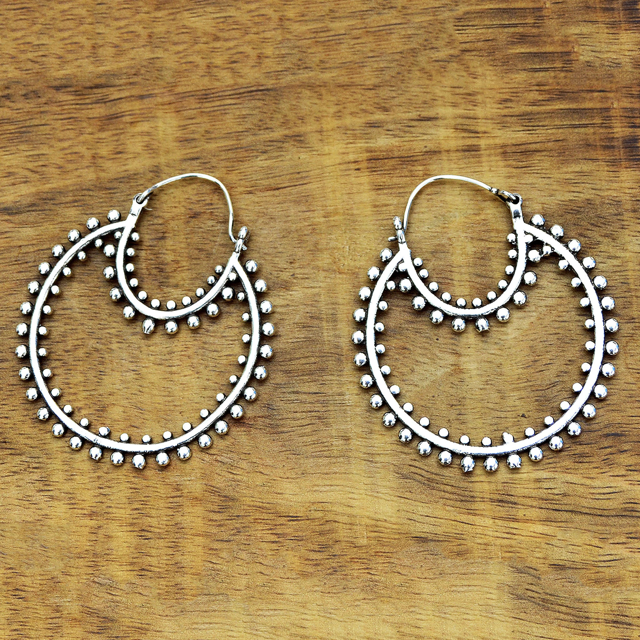 Boho hoop earrings