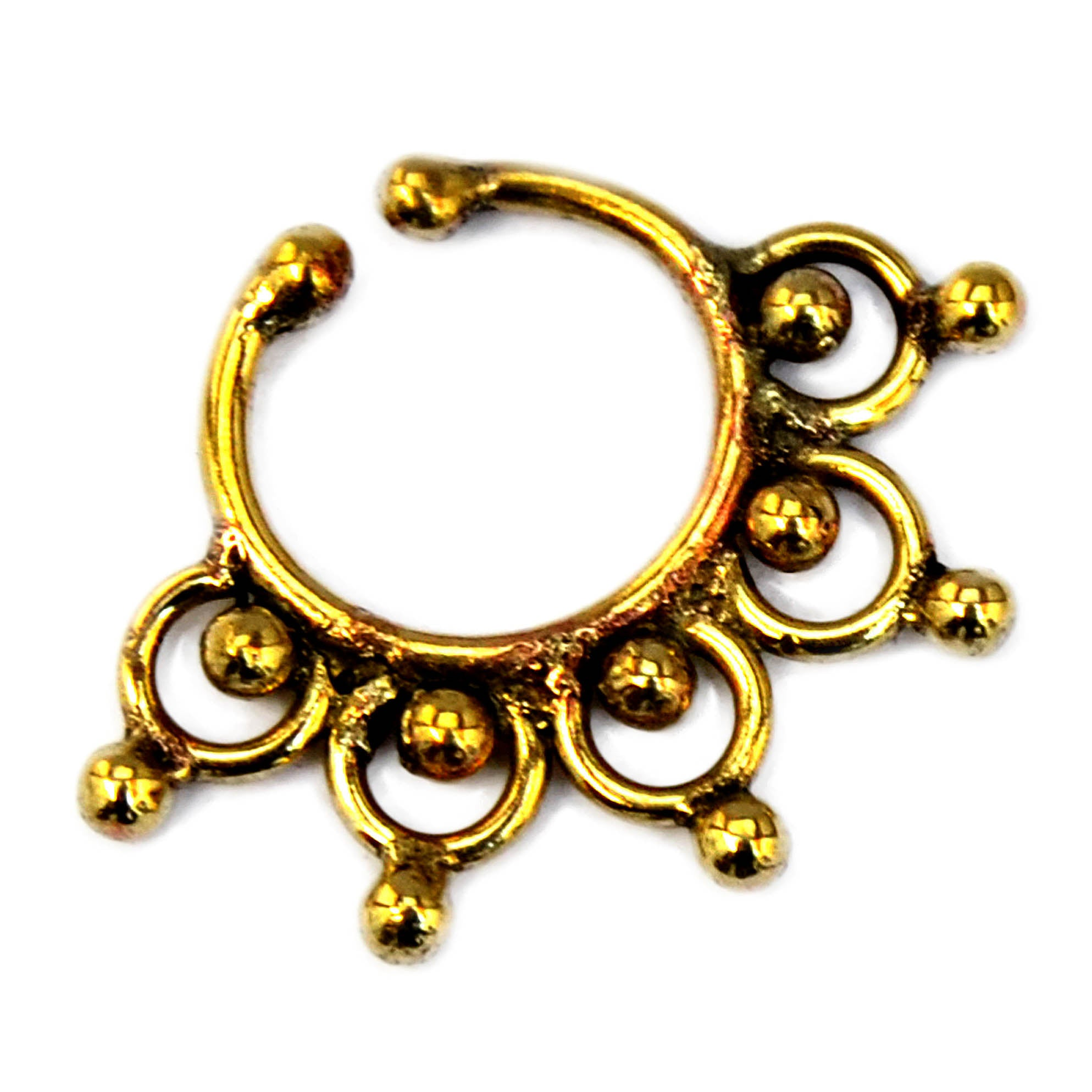 Ethnic gold indian nose ring
