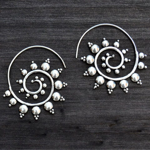 Spiral banjara earrings