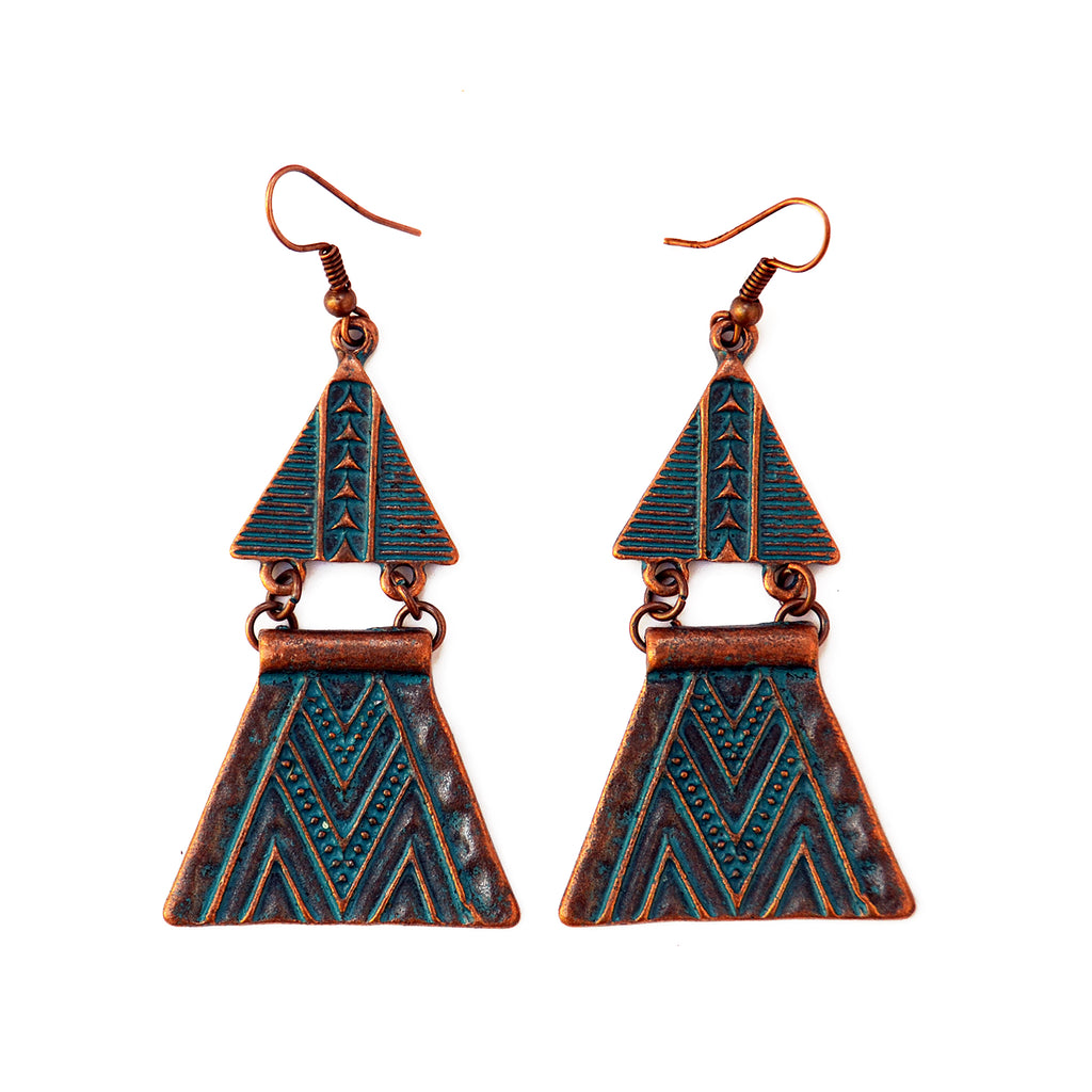 Bohemian aztec earrings