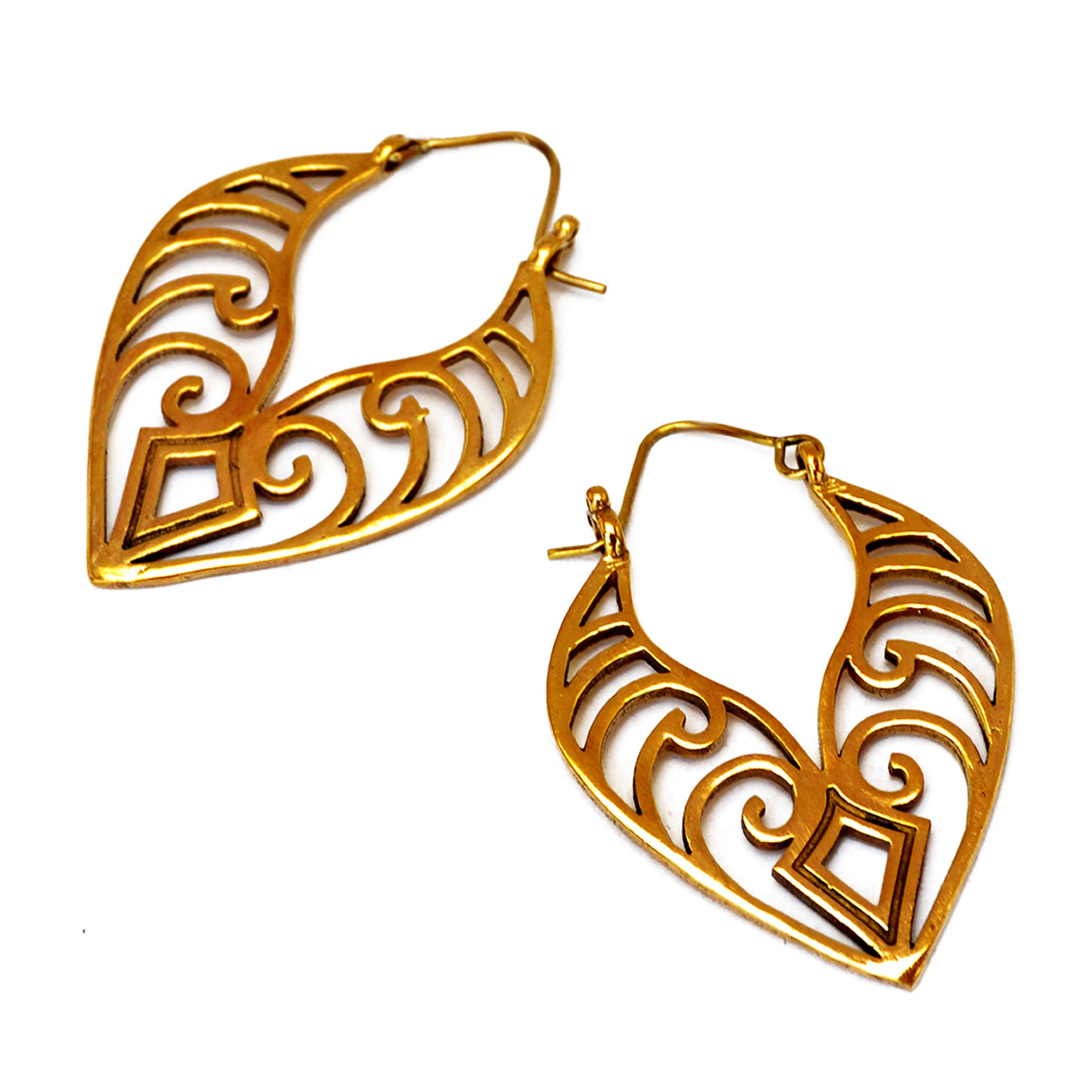Maori leaf earrings