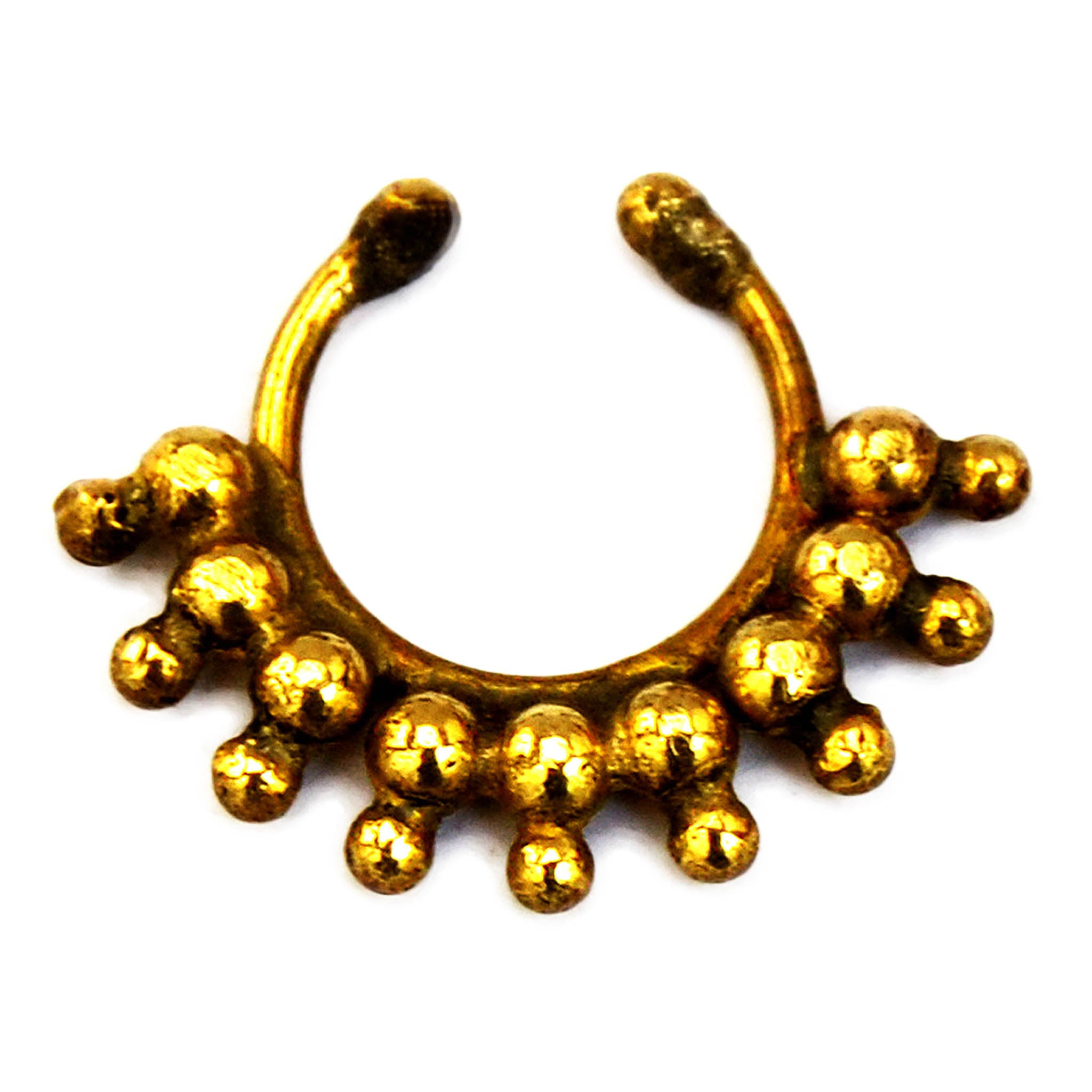 Gold tribal nose ring