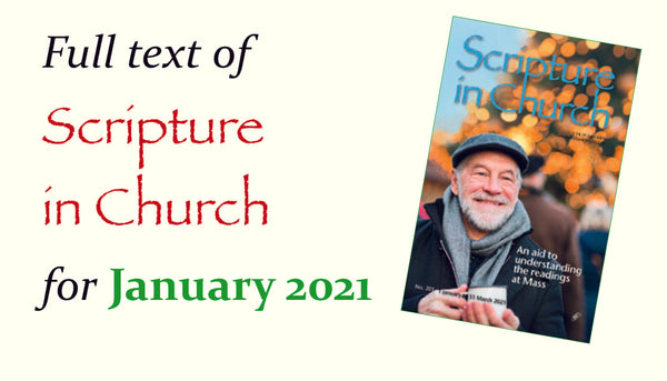 Scripture in Church, January 2021