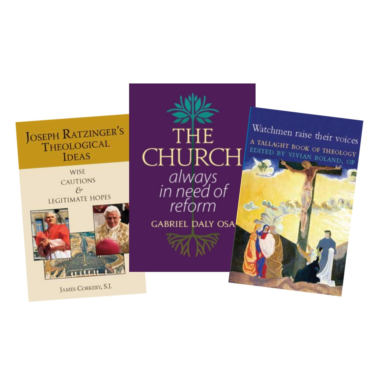 Books on theology including the most recent book The Church Always in Need of Refomr by Gabriel Daly OSA